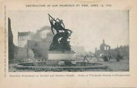 SAN FRANCISCO CA - Donohue Monument and Wholesale District After 1906 Fire - udb