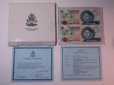 1992 Bahamas $1 Quincentennial Commemorative Banknotes - Uncut Columbus