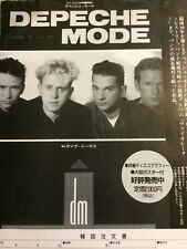 Depeche Mode, Japanese Full Page Vintage Promotional Ad