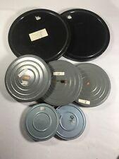 7 Vintage Movie Film Reels & Canisters Compco Scherer Tool Relflex & More