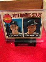 2017 Topps Heritage #214 Aaron Judge RC/Tyler Austin RC New York Yankees