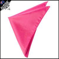 Mens Hot Pink Pocket Square Handkerchief