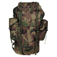 BW Combat Backpack German Armed Forces Hiking Rucksack Outdoor 65l Top Woodland 30253T