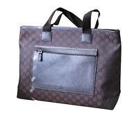 NEW Authentic GUCCI GG Tote Shoulder BAG HANDBAG Purse Brown Nylon 180449
