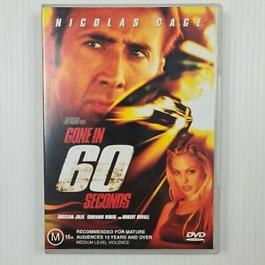 Gone In 60 Seconds DVD - Nicolas Cage - Region 4 - TRACKED POST