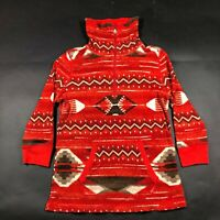Ralph Lauren LRL Active Womens L Red Quarter Zip Sweater Aztec Southwestern