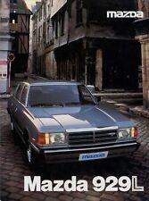 MAZDA 929 L prospectus 4/80 1980 autoprospekt BROCHURE AUTOMOBILIA Brochure voiture