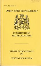 01123.  Order of the Secret Monitor (O.S.M.) Constitutions & Year Book 1995-96