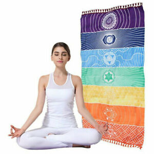 Chakra Rainbow Meditation Yoga Door/Wall Hanging Banner 7 Chakra Symbols Reiki