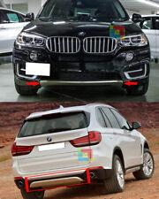 SOTTO PARAURTI CROMATI BMW X5 F15 2013-2018 ANTERIORE E POSTERIORE LOOK OFF-ROAD