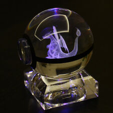 Pokemon 3d Crystal Ball Elf Night Bedroom RGB Color Desk Table LED Light Lamp 6c Charizard