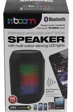 LED Multi-Colour Dancing Light Bluetooth Wireless Speaker Portable&Rechargeable