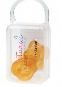 Natural Rubber Soother | Dummy - Twin pack of 2 - Small Orthodontic | 0-6 months