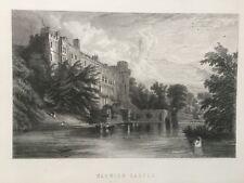 1870 Antique print; Château De Warwick, Warwickshire