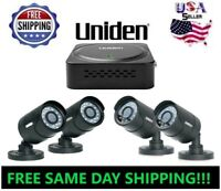 Home Security Camera System 4 Channel Outdoor DVR Kit Night Vision 500GB SMART