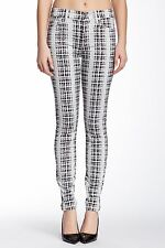 NWT 7 For All Mankind High Waist Skinny in Houndstooth Plaid Stretch Jeans 30