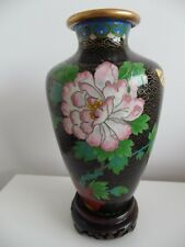 CHINESE CLOISONNE PEONY & BUTTERFLY VASE