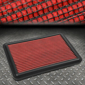 FOR 14-20 NISSAN ROGUE /-18 X-TRAIL WASHABLE DROP-IN PANEL ENGINE AIR FILTER RED