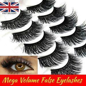 5D Natural🌟Fake Mink Eye Lashes🌟5 Pairs🌟False Long Thick Wispy Mixed  Makeup