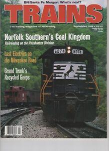 Trains Magazine Railroading Sept 1994 Norfolk Coal Dingdom BN Santa Fe Merger