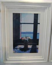 Framed Greek Print Aegean Diary Window 83x63cm Yiorgos Depollas