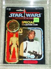 Vintage Star Wars 1985 AFA 80 LUKE SKYWALKER STORMTROOPER POTF 92 BACK CARD MOC!