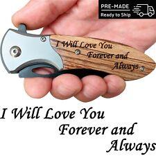 Engraved Pocket Knife, Christmas, Birthday Gifts for Boyfriend, Husband, Him Men