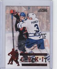 Dion Phaneuf 12/13 Panini Score Check IT EXPO Show Auto 1/1