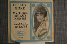 """Lesley Gore-original 1965 """"My Town, My Guy and Me"""" PICTURE SLEEVE, only"""