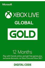 Global Xbox Live Gold 12 Months - Microsoft Xbox One/360 Membership Digital Code