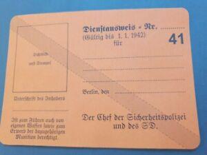 German Office, Secret Security Police ID, SD Passport Polizei card Dienstausweis