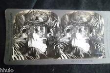 STB303 Scène de genre Jeux de miroir femme décoration photo STEREO albumen