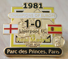 LIVERPOOL Victory Pins 1981 EUROPEAN CUP WINNERS Badge Maker Danbury Mint