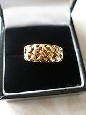 18 CARAT GOLD KEEPER RING MADE IN ENGLAND LOVELY ITEM