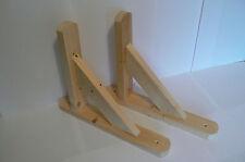 """Wooden Shelf Brackets x 2 (Ideal for 10"""" - 11"""" Shelves)"""