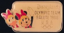 Minnie Mouse and Daisy Duck ~Synchronized Swimming~Disney Pin~Olympic Seoul~USA