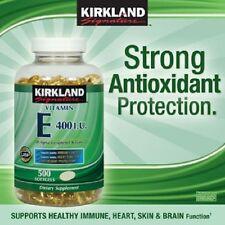 Kirkland Vitamin E 500 (400 IU) Softgels Antioxidant; Immune Heart Skin Brain
