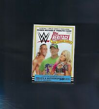 2018 TOPPS WWE HERITAGE BLASTER BOX NEW SEALED RELIC + SHAWN MICHAELS TRIBUTE !
