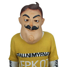 Halloween Animated Props Scary Latex Masks Full Head Adult Hello Neighbor Mask