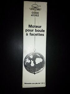 """White Mirror / Disco Ball Battery Operated DC MOTOR 12"""" 8"""""""
