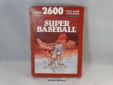SUPER BASEBALL - ATARI 2600 VCS 7800 - VIDEOGIOCO VINTAGE ANNI 80 - COMPLETO