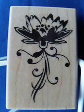 NEW INKADINKADO WOOD MOUNTED RUBBER STAMP FLOWER 99608 325