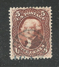 U.S. Scott 75 Jefferson 5c red brown stamp.