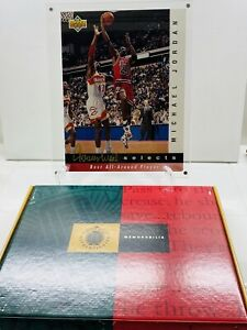 1992-93 UPPER DECK Jerry West Selects MICHAEL JORDAN 11 X 8 #JW8 #39 2710/5000