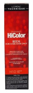 Loreal Excellence Hicolor H10 Tube Copper Red 1.74 Ounce - 2 Pack