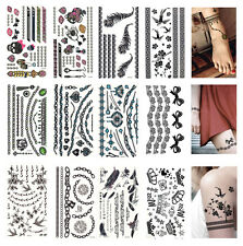 10 pcs Temporary Tattoo Jewelry Tattoos Bracelets Feathers Wrist Arm Bands More