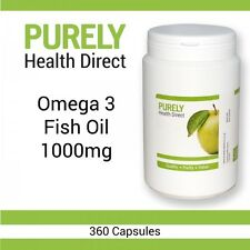 OMEGA 3 FISH OIL 1000mg  360 Capsules Tablets sent in a Postal Pack
