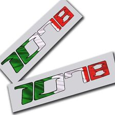 MV Agusta 1078 F4 Motorcycle decals graphics Italian flag design x 2 pieces.