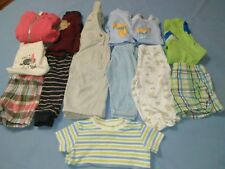 Infant Boy's 13 Piece Lot Outfits Shorts Shirts Jacket Overalls Size 3-6 Months