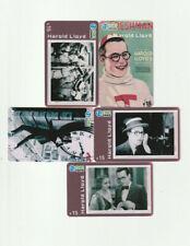 (5) Harold Lloyd Rare Phone Cards
